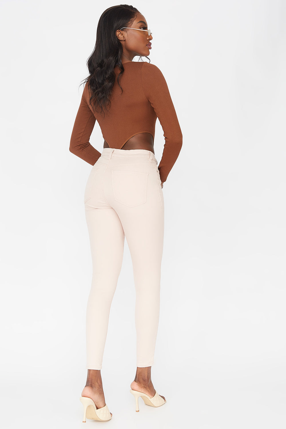 Refuge Miami High-Rise Coloured Skinny Jean Pink