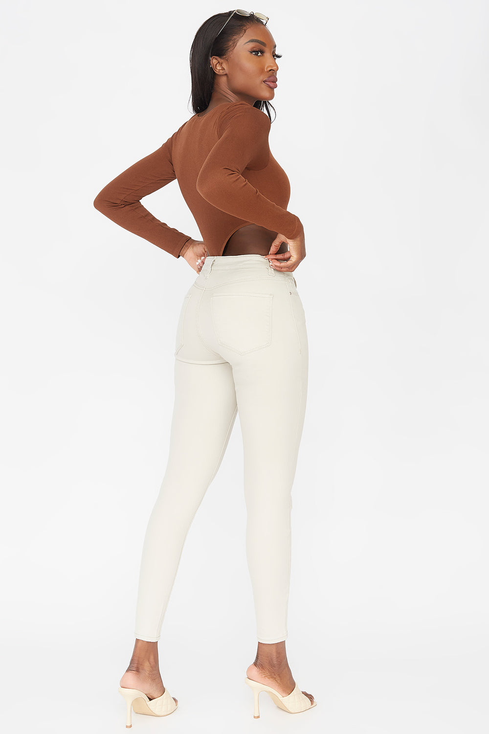 Refuge Miami High-Rise Coloured Skinny Jean Khaki