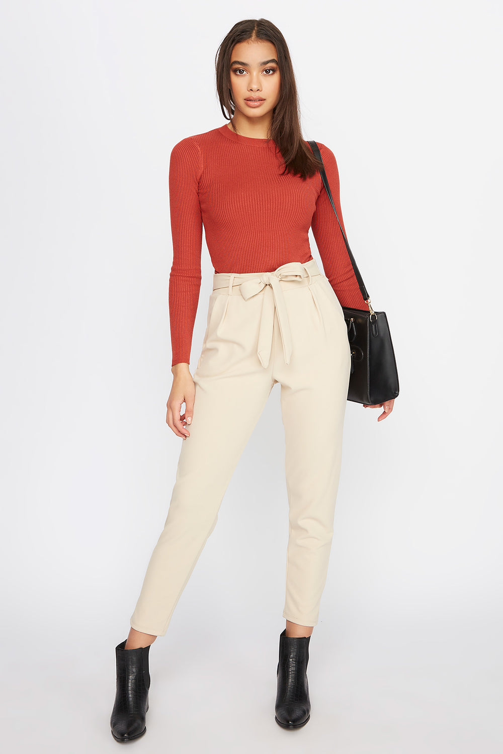 Front Tie Pant Taupe