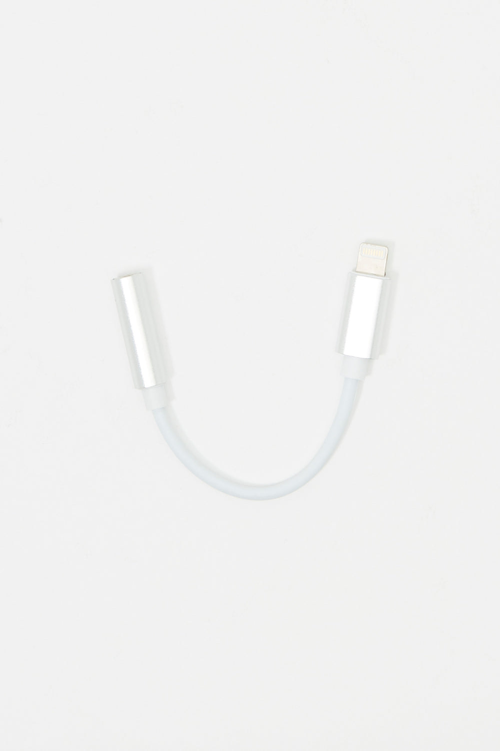 iPhone Earphone Audio Adapter Silver