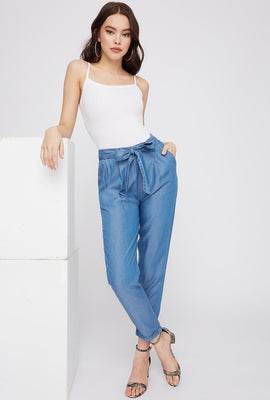 Self-Tie Roll-Up Pant