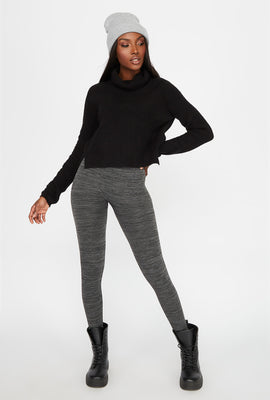 Space Dye Fleece Super Slim Legging