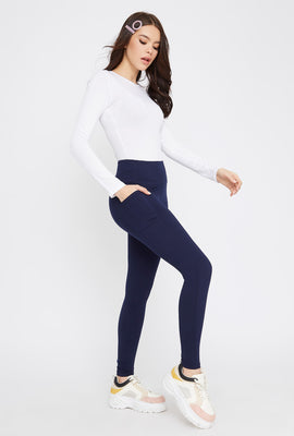 Basic High-Rise Side Pocket Legging