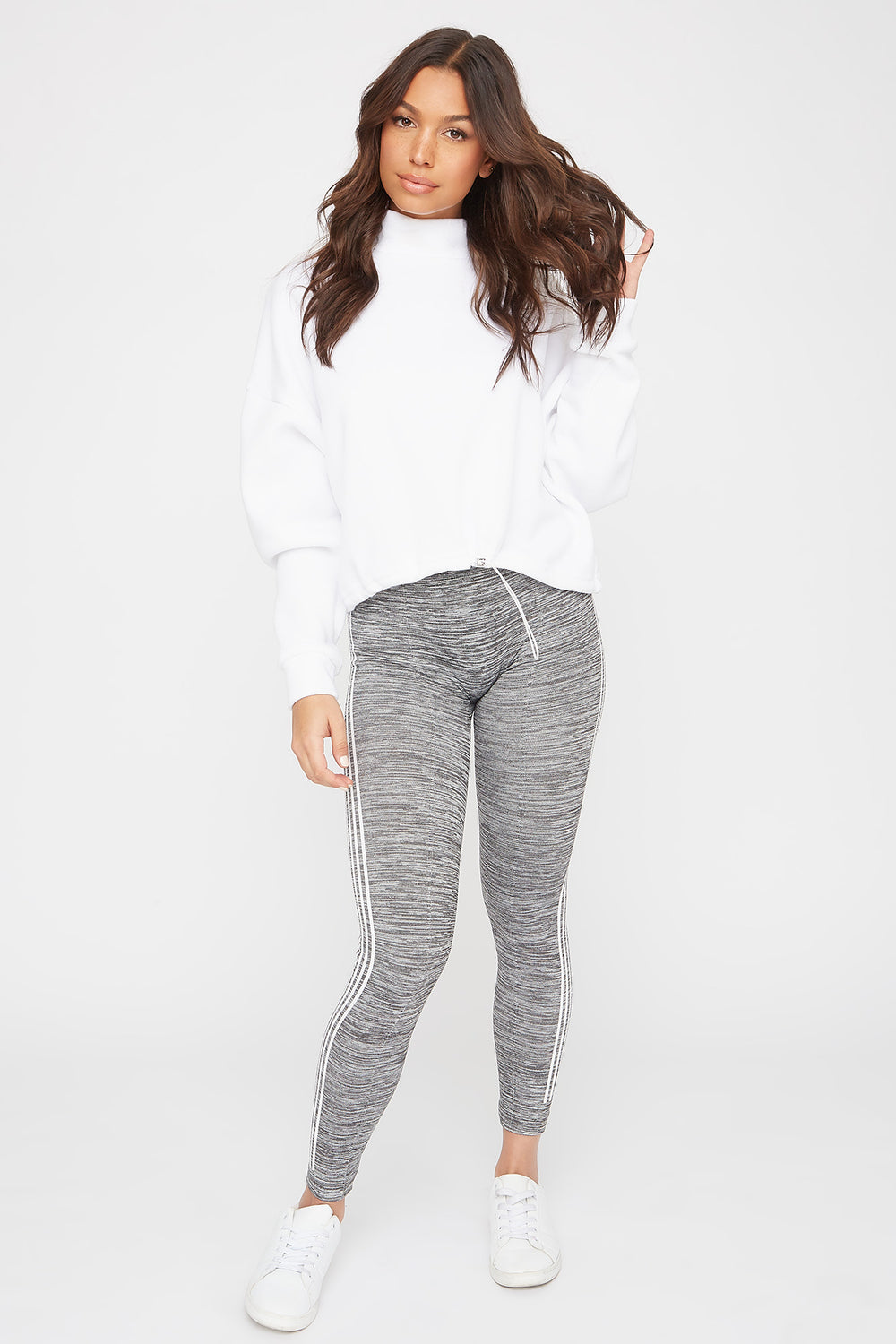 Side Stripe Legging Heather Grey