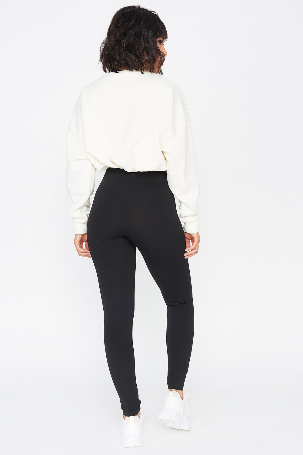 High-Rise Fleece Lined Legging Black