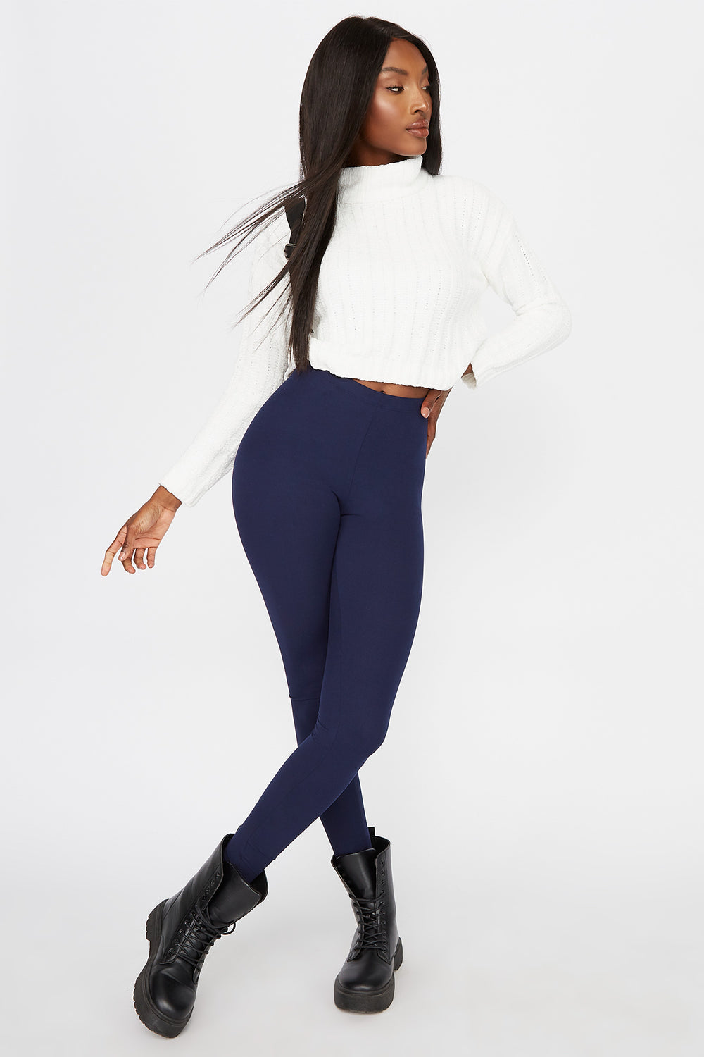 Basic Soft Legging Navy