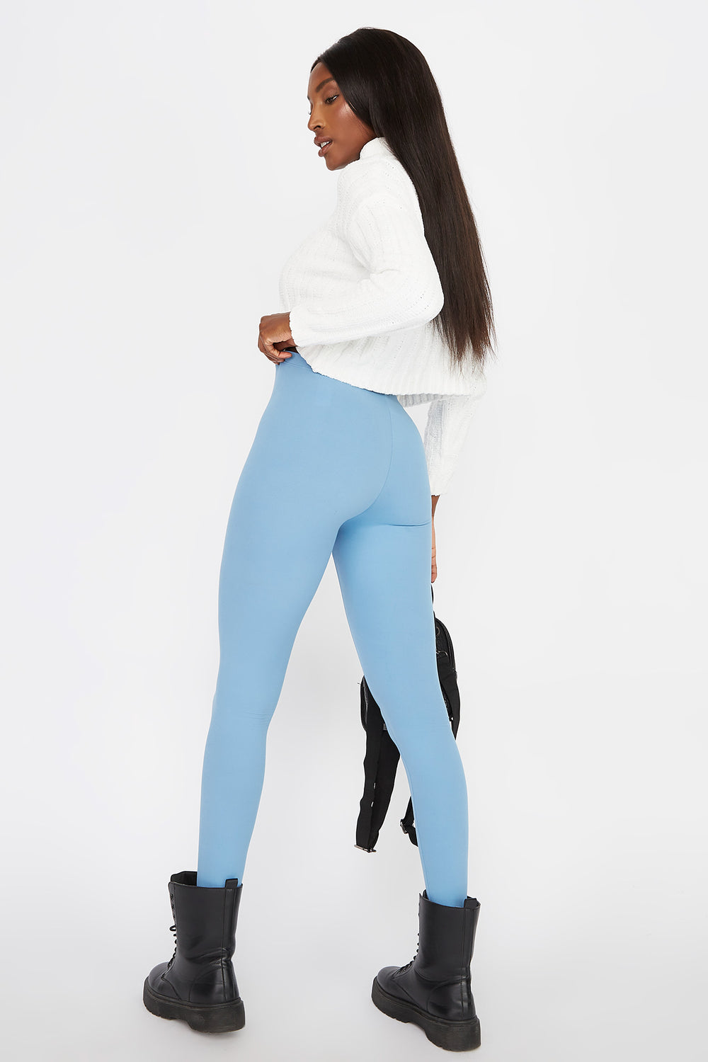 Basic Soft Legging Ocean Blue