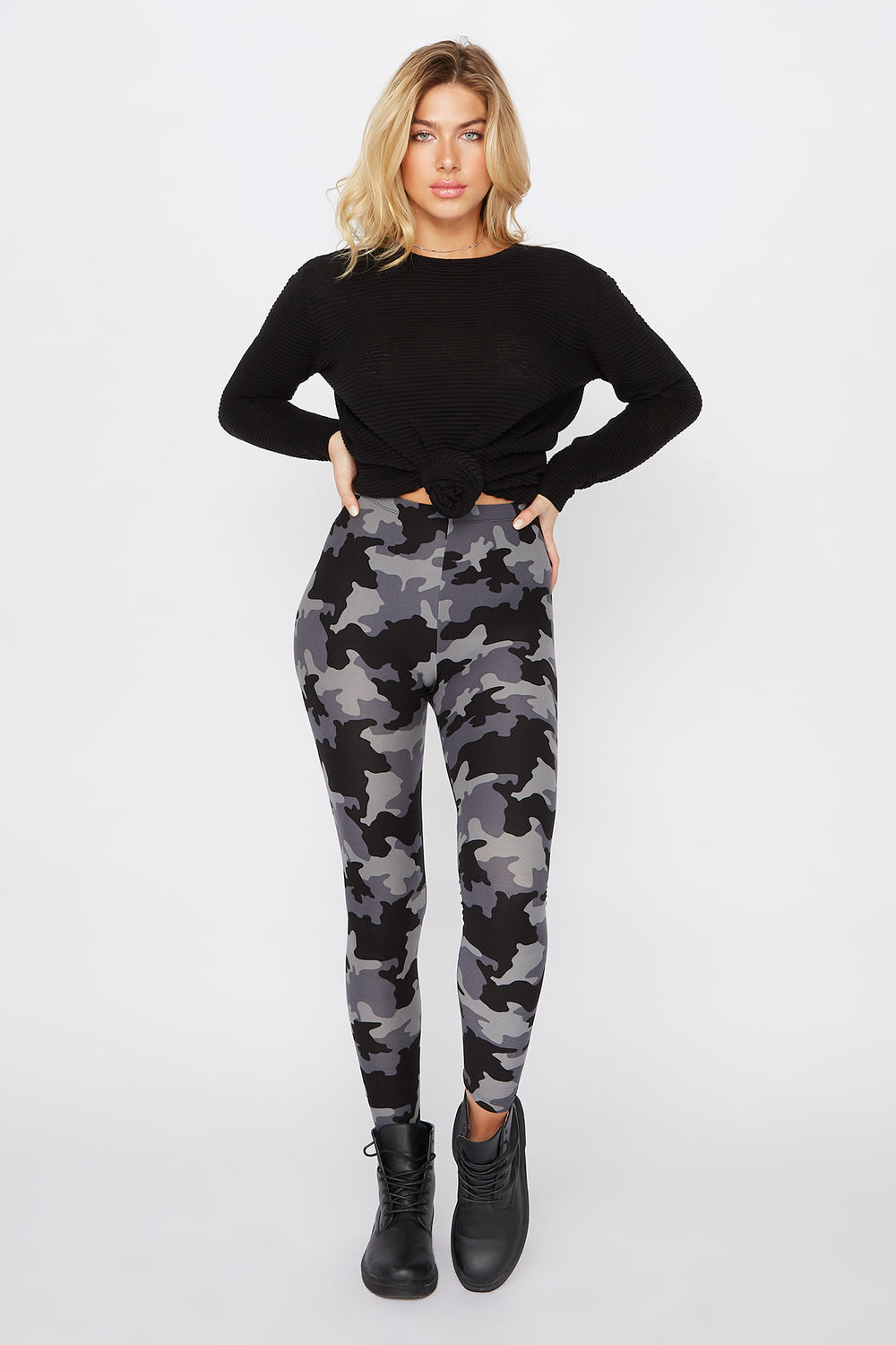 Leggings Básicos Camuflaje Carbón