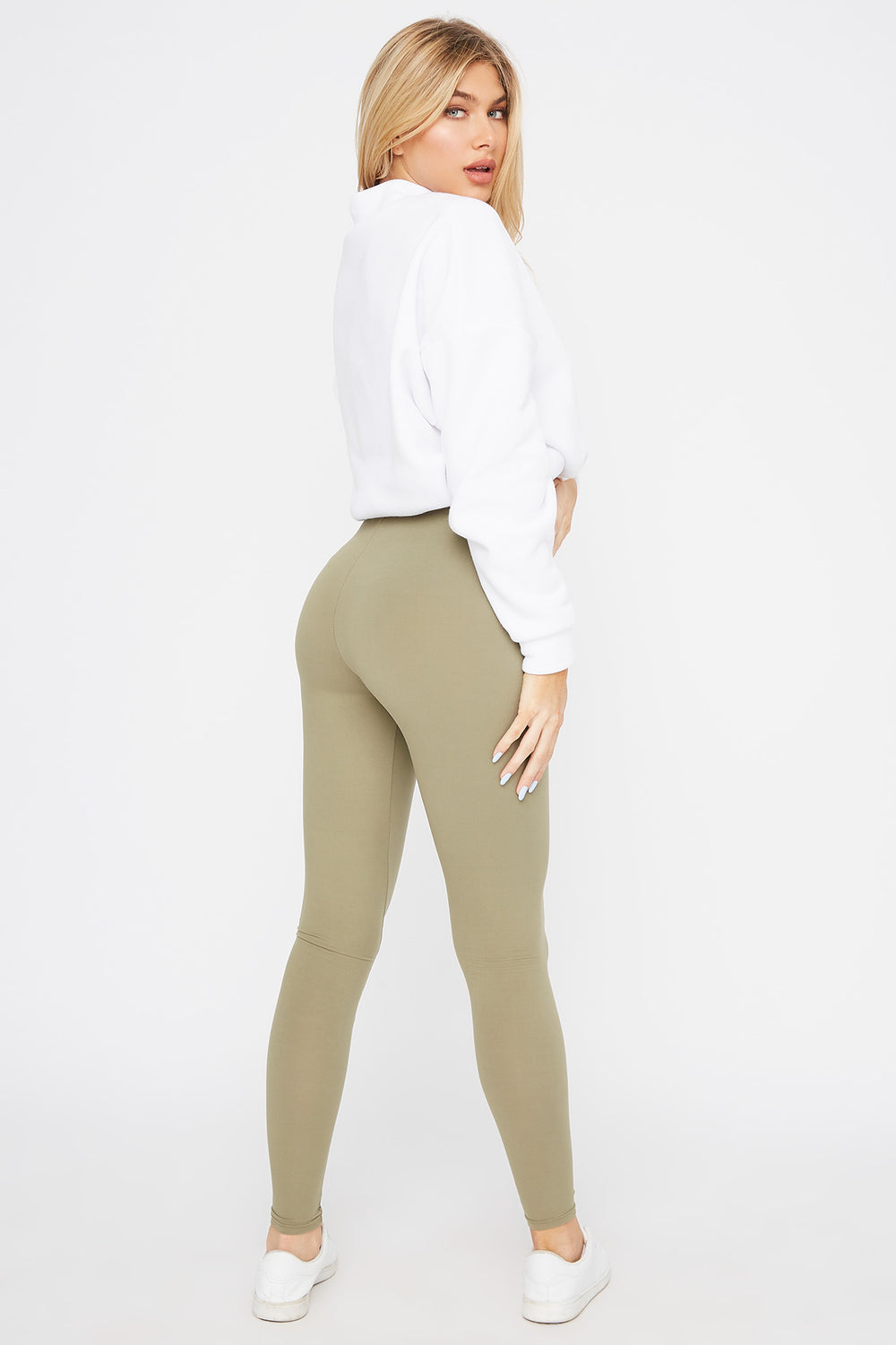 Super Soft Basic Legging Dark Green