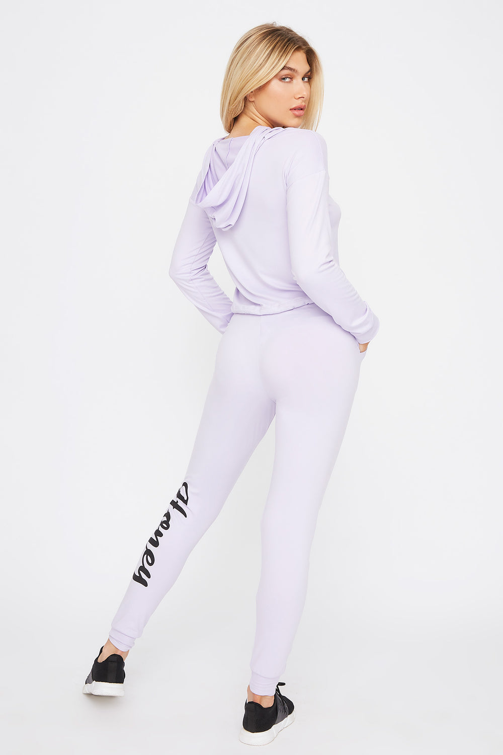 Soft Graphic Drawstring Jogger Lilac