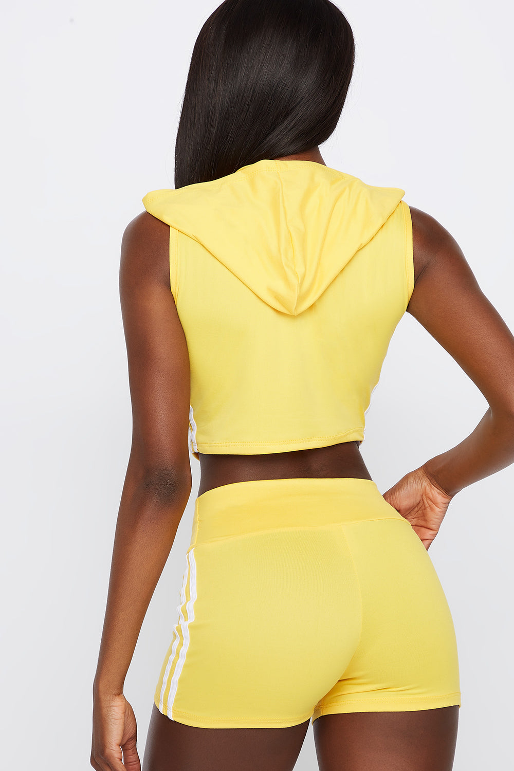 High-Rise Side Stripe Short Yellow