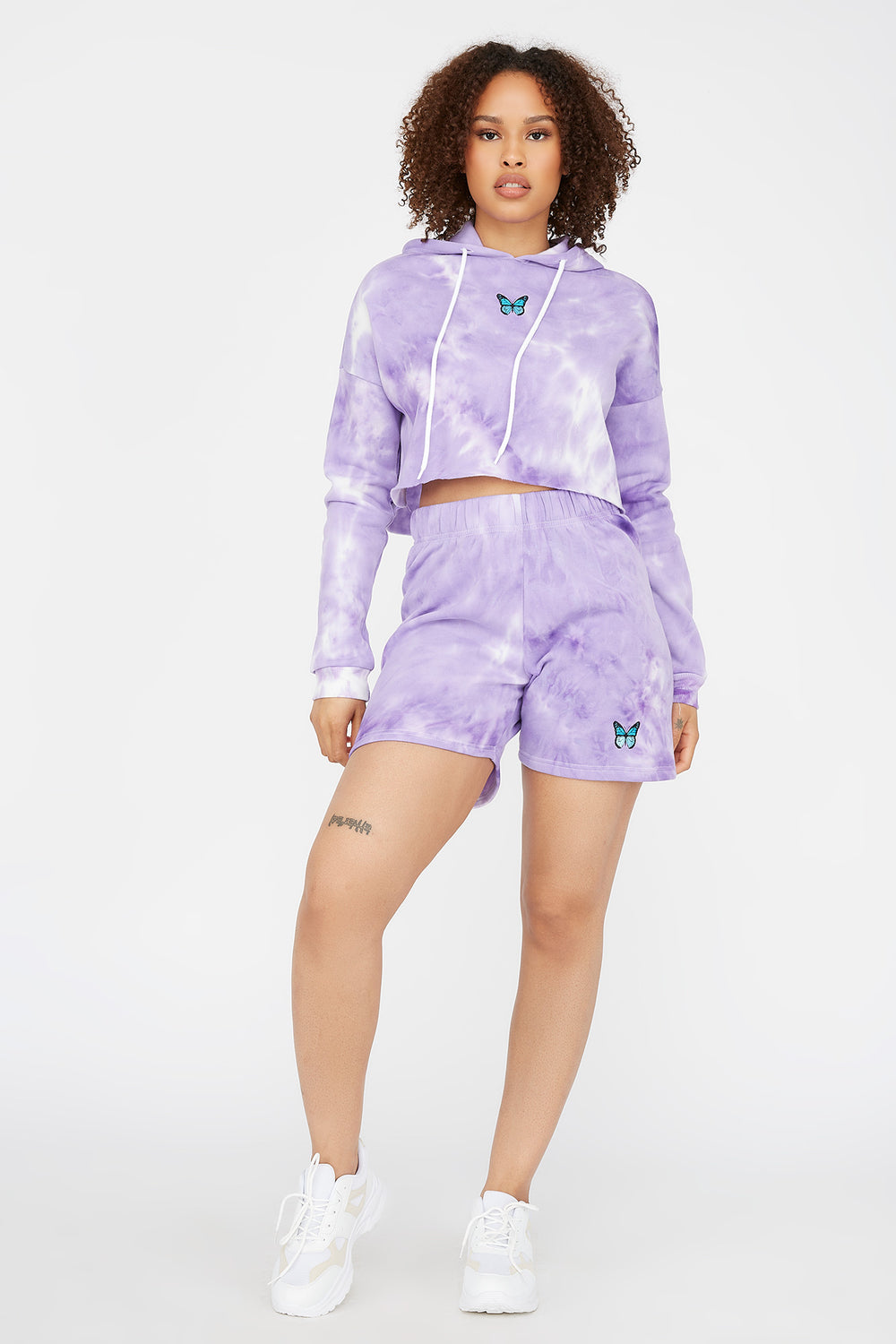 Fleece Graphic Basketball Short Purple