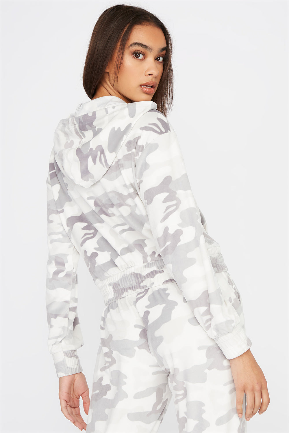 Super Soft Velour Hoodie Camouflage