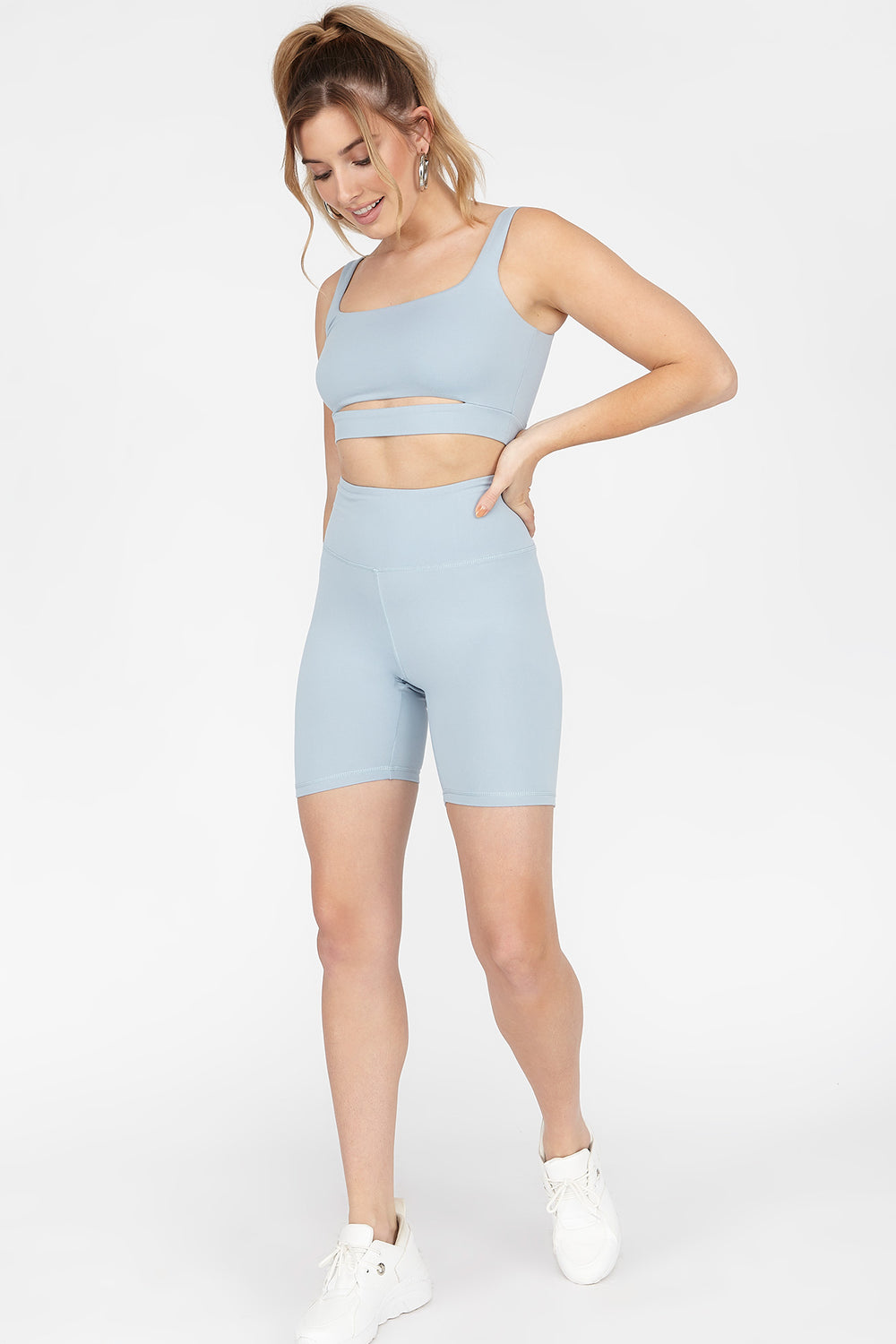 Soft High-Rise Biker Short Blue