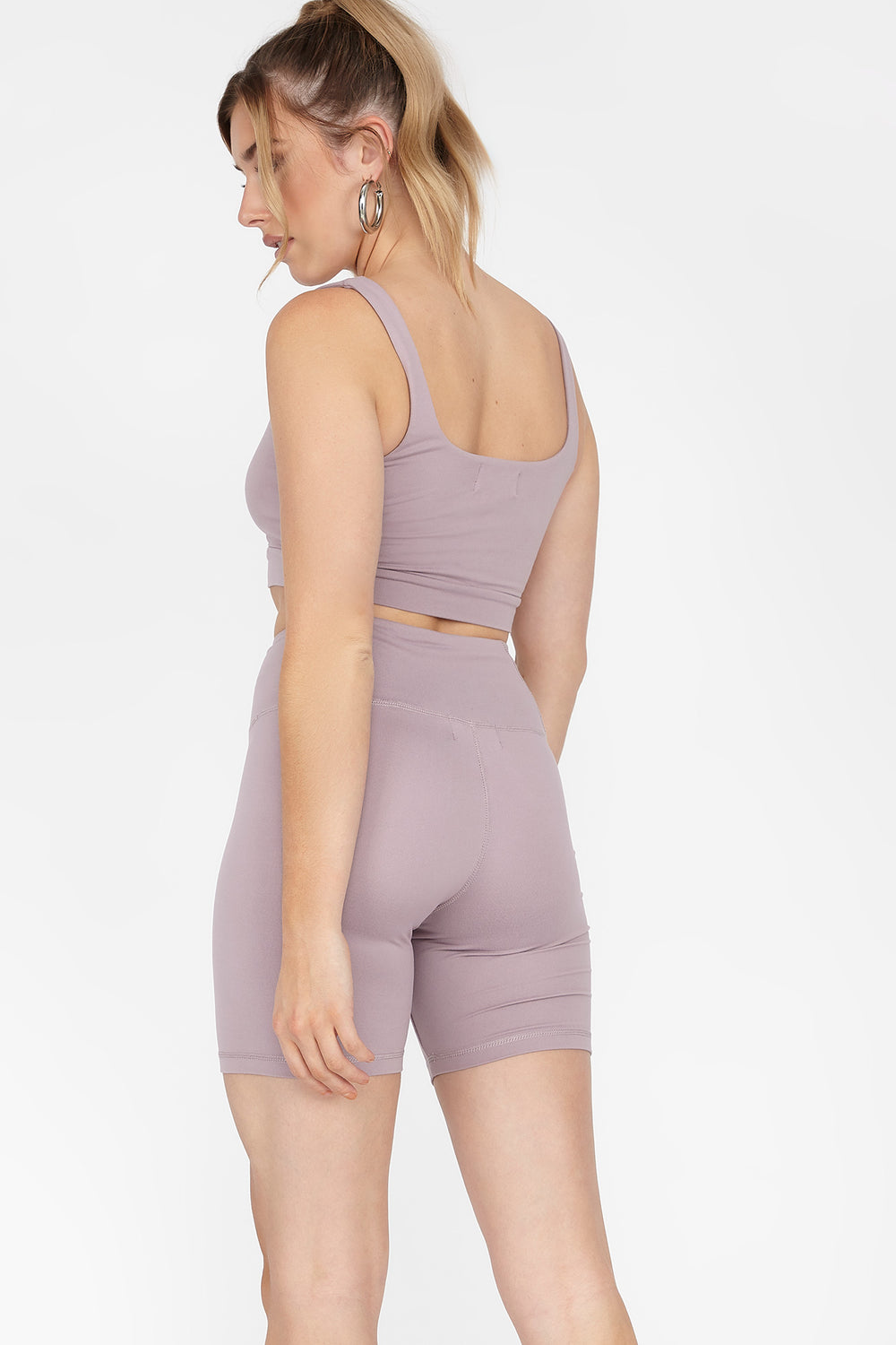Soft High-Rise Biker Short Purple