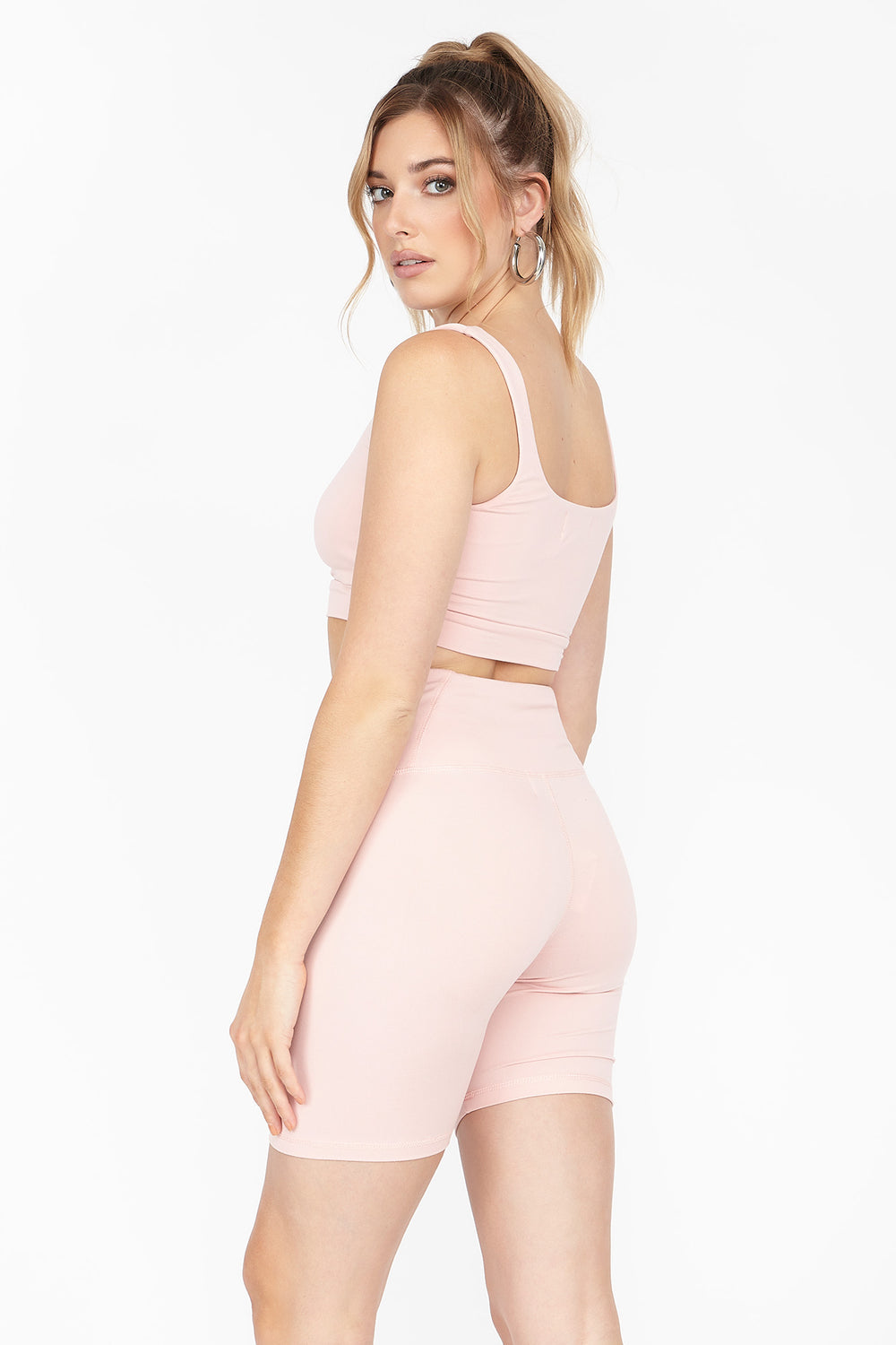 Soft High-Rise Biker Short Pink