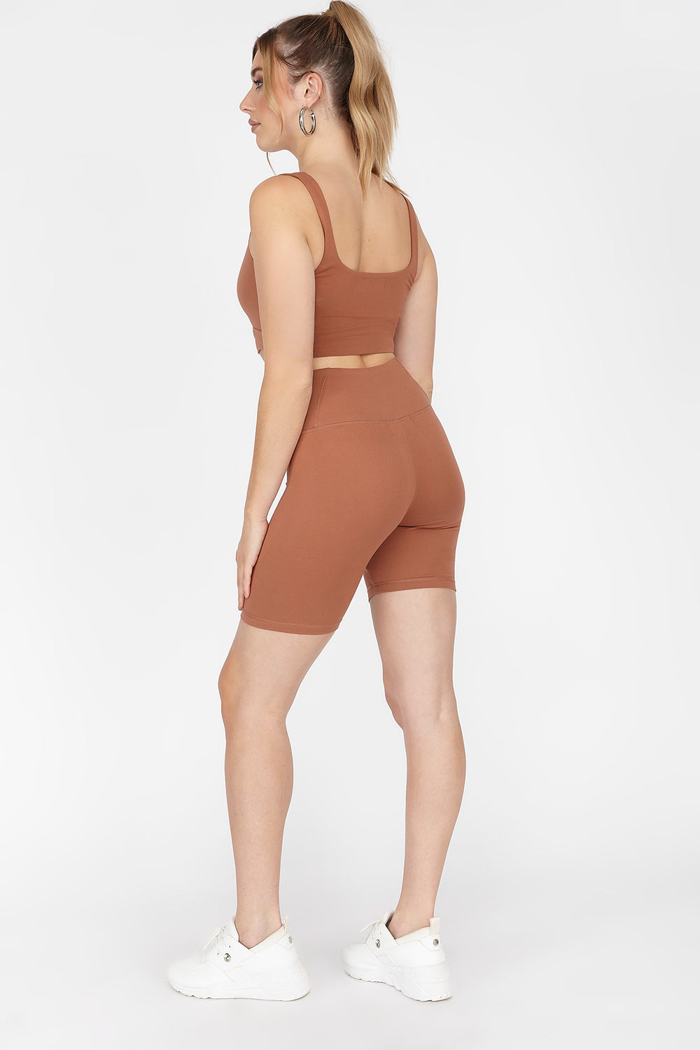 Soft High-Rise Biker Short Rust