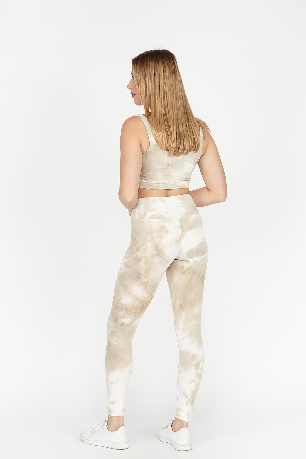 Soft High-Rise Tie-Dye Legging Tan