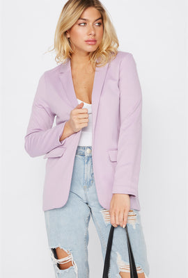 Knit Open-Front Blazer