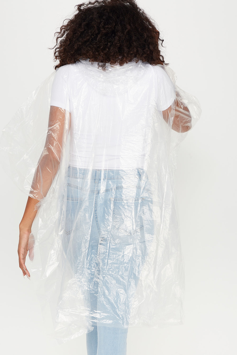 Hooded Rain Poncho Clear