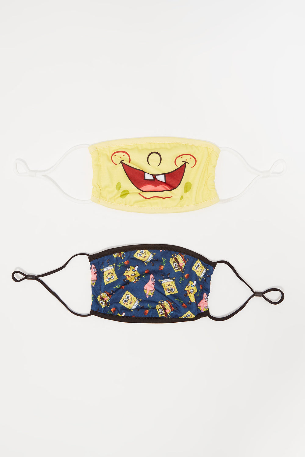 Washable & Reusable SpongeBob SquarePants Graphic Protective Face Masks (2 Pack) Assorted