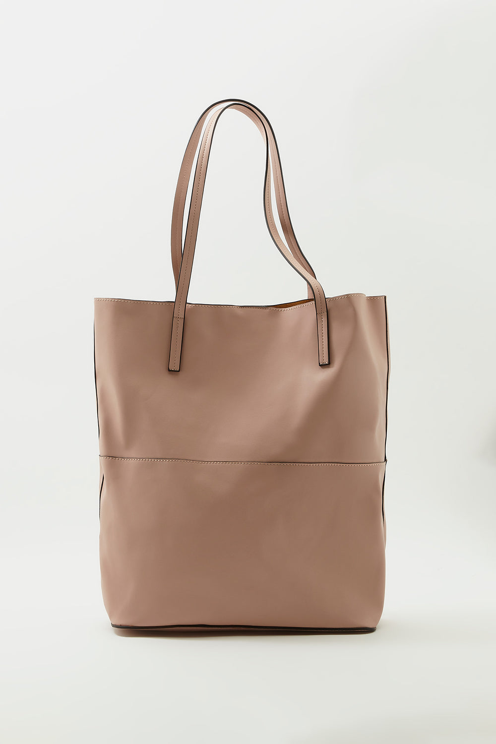 Faux-Leather Tote Bag Rose