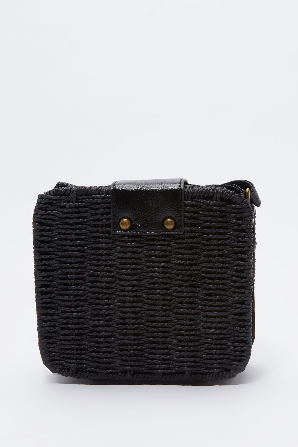 Box Wicker Bag Black