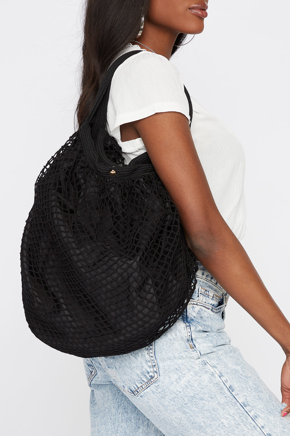 Net Shoulder Bag Black
