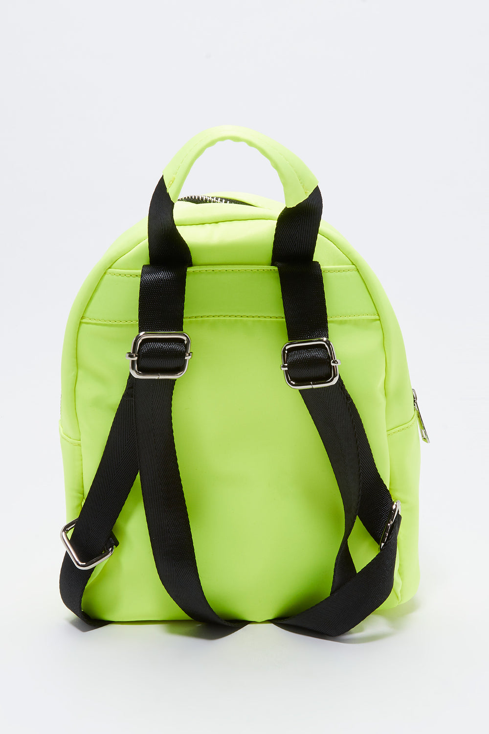 Solid Nylon Backpack Neon Yellow