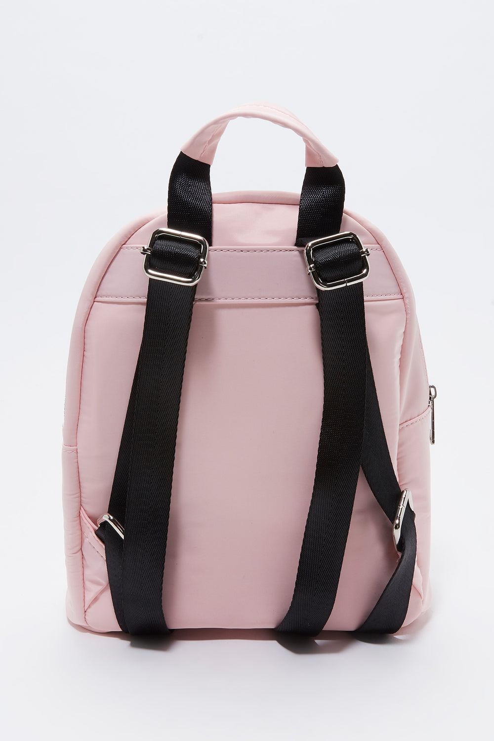 Solid Nylon Backpack Rose