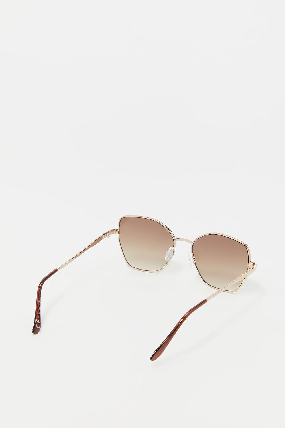 Oversized Butterfly Frame Sunglasses Brown