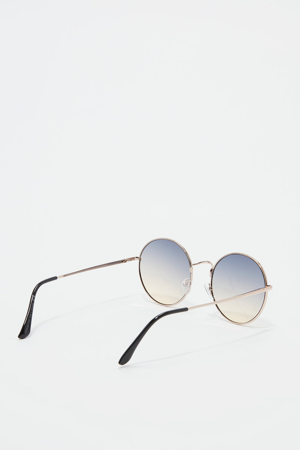 Metal Round Ombre Lens Sunglasses Green
