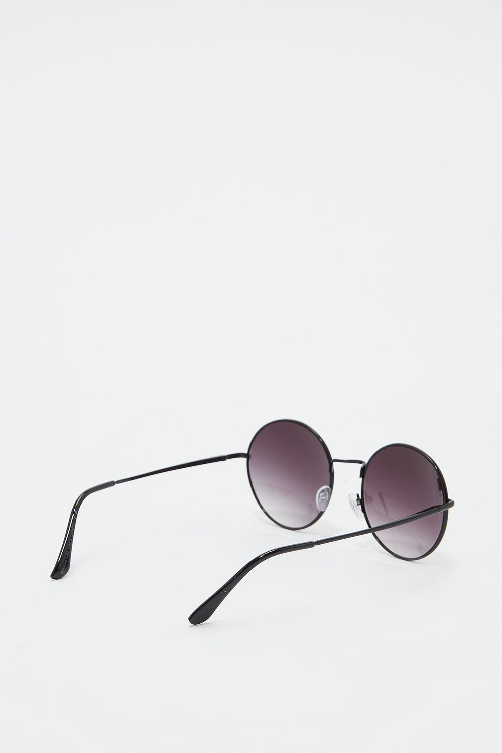 Metal Round Ombre Lens Sunglasses Black