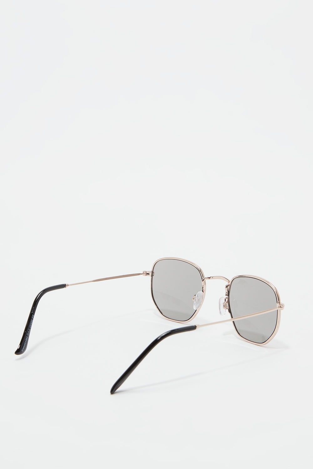 Metal Geo Square Sunglasses Pink