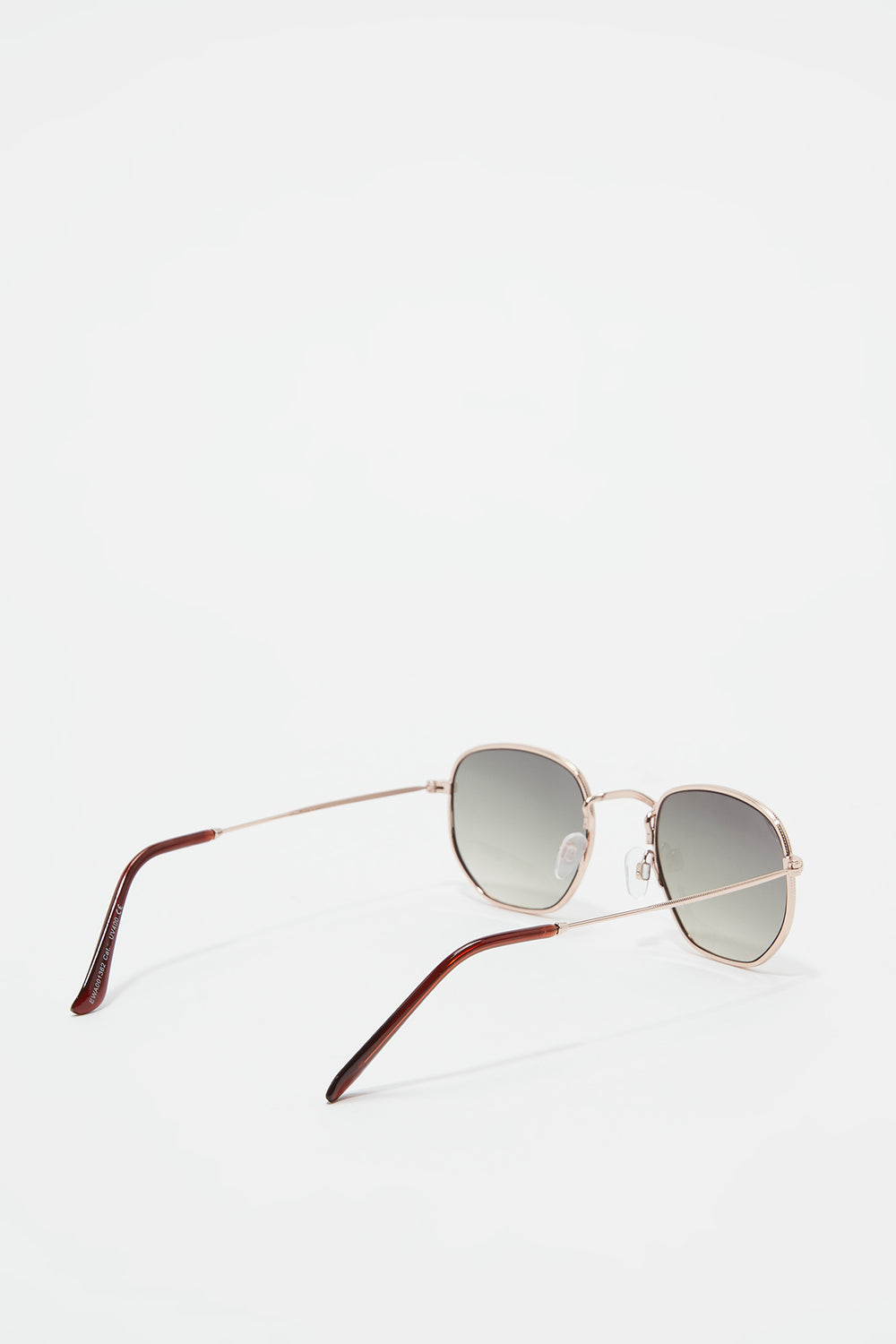 Metal Geo Square Sunglasses Gold