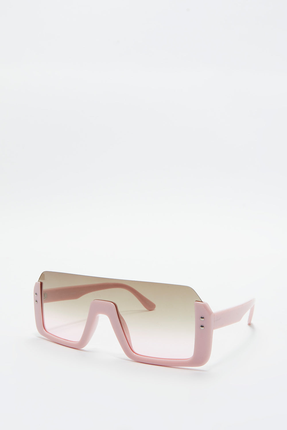 Oversized Shield Sunglasses Rose
