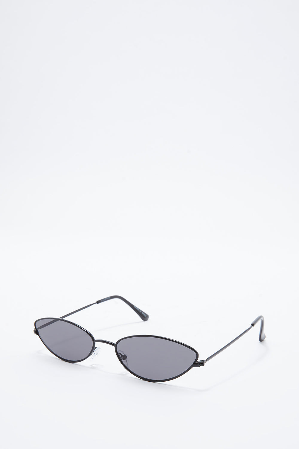 Micro Metal Cat Eye Sunglasses Plaid