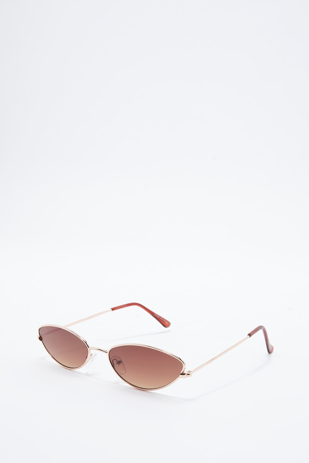 Micro Metal Cat Eye Sunglasses Brown