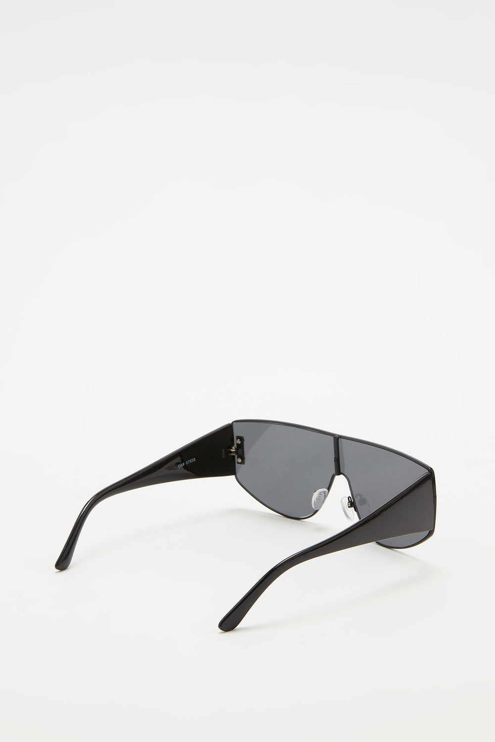 Oversized Metal Frame Sunglasses Black