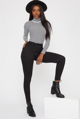 High-Rise Black Super Skinny Jean