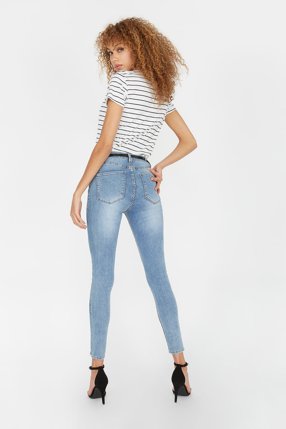 Refuge Miami High-Rise Medium Wash Super Skinny Jean Medium Blue