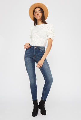High-Rise Dark Wash Super Skinny Jean