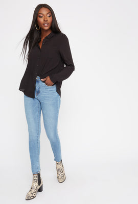High-Rise Medium Wash Super Skinny Jean
