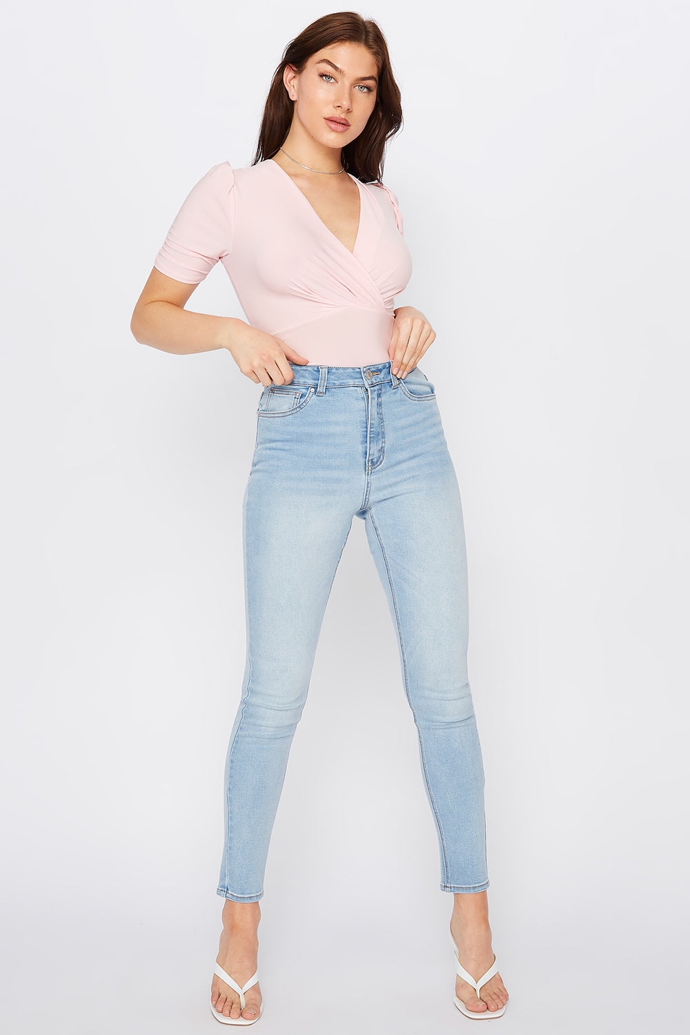 Refuge Cali Light Wash High-Rise Skinny Jean Light Denim Blue