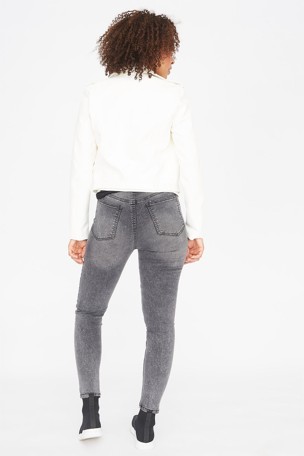Refuge Cali Ultra High-Rise Dark Grey Skinny Jean Dark Grey