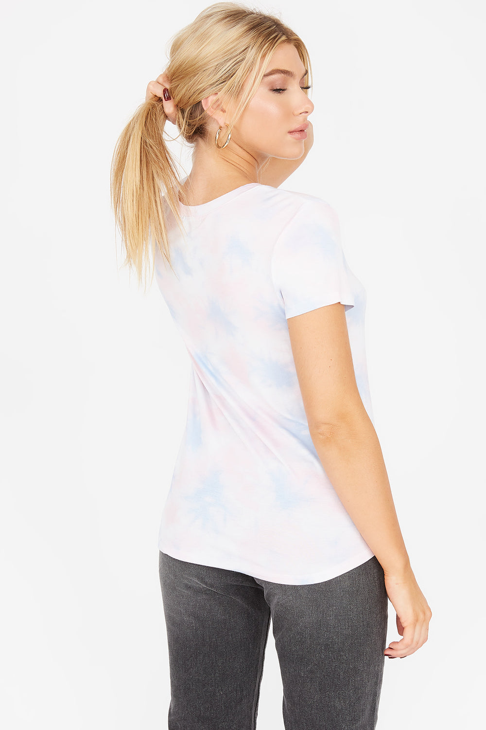 Tie Dye V-Neck Relaxed Pocket T-Shirt Multi
