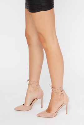 Ankle Tie Stiletto Pumps
