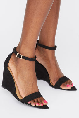 Pointed Open Toe Wedge Sandals