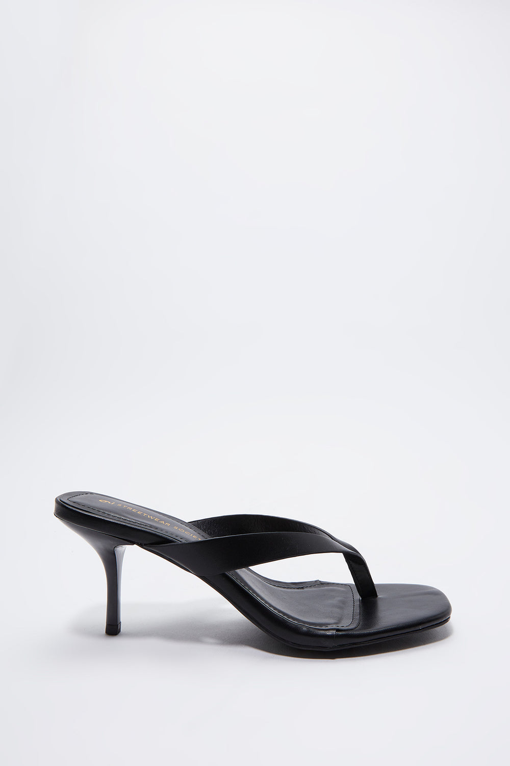 Stiletto Thong Sandal Plaid