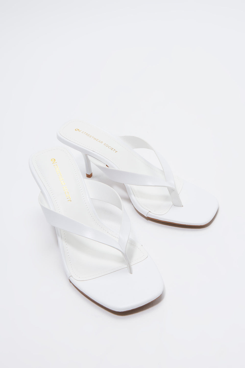 Stiletto Thong Sandal White